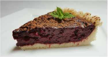 Chocolate and beetroot tart