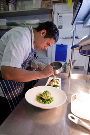 Paul Ainsworth preparing food