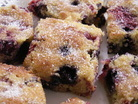 A photograph of summer berry squares
